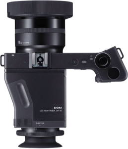 Top view of the dp1, with accessory viewfinder attached